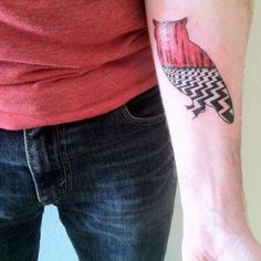Twin Peaks Owl Tattoo