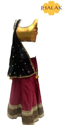 MAROON AND GOLDEN COLOR CHANIYACHOLI