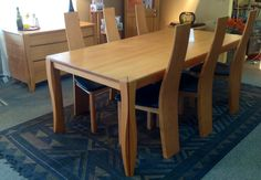 Luis Solid Beech Dining Table with Dining Chairs. Available at Scanhome Furnishings in Green Bay.