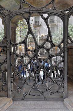 """Gaudi. """"La Pedrera"""" door (aka Casa Milà), Barcelona"""
