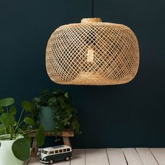 bloomingville lampe suspension bambou naturel 42xh30cm bloomingville lights pinterest. Black Bedroom Furniture Sets. Home Design Ideas