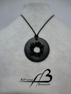 Colgante Negro Sol, black (Necklace)