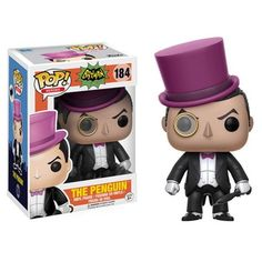 From the hit wacky 1966 Batman TV Series! This Batman 1966 TV Series Penguin Pop! Vinyl Figure features Batman's nemesis, The Penguin (as played by Burgess Mere