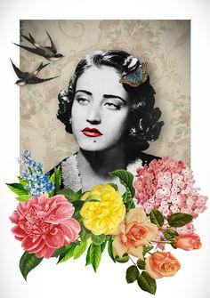 #Asmahan #Arab #Vintage #Kitsch #Flowers #Divas #Diva #singer #singers #Tarab #Song #Songs