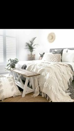 Home Bedroom Bed sheet guest bedroom Duvet cover Pillow Bedding White Bedroom Bed, Bedroom Decor, Master Bedroom, Cover Pillow, Pillow Covers, Bohemian Bedroom Design, White Bedding, Bed Frame, Bed Sheets
