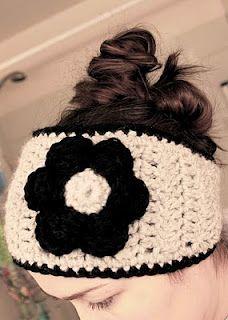 crocheted head band & flower