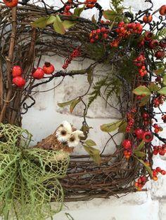 Owl Wreath Square Wreath Front Door Wreath by AdorabellaWreaths