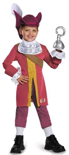 This costume includes a top with ruffles, pants, hat, and hook. Does not include socks, or shoes. This is an officially licensed Disney Jake and the Never Land Pirates costume.