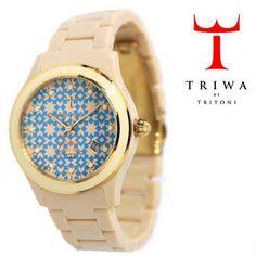TRIWA(トリワ)  リストウォッチ 腕時計 Nada Naked Brasco ベージュ×ブルー【送料無料】 wc-triwa-035