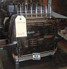 Hoitpoint electric toaster for sale at Heaths Old Wares Collectables Industrial Antiques 12 Station Street Bangalow NSW 2479 Open 7 Days 9am - 5pm ph 02 6687 2222