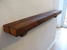 Shelf Chunky Rustic Floating Mantel Wooden Shelf Pine Shelves Corbels / Brackets