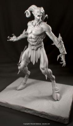 ArtStation - Satyr - God of War 3 fan art, Wesclei Barbosa