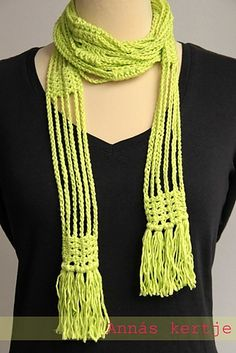 Post-it scarf by Annás #crochet  Neon brights with neutrals    I have not crocheted in years, but this just might inspire me to start again!