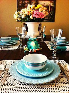 Gorgeous! :) #WorldMarket Easter Table #easterdinner #easterdecor via @Kathe Scripture (Kathe With An E) B