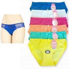 Womens Bikini Panties Set Lace Soft Sensual Cotton Blend Underwear Size S M L XL #Mamia #Bikinis #Everyday