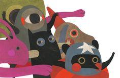 simone rea illustratore: Cane, Coniglio, mostri e Supereroi.