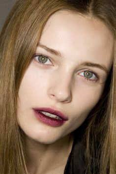 stained lips stain gradient backstage runway model makeup ideas