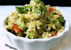 Brokkolis köles rizotto recept foto Vegetarian Recipes, Healthy Recipes, Vegan Breakfast, Guacamole, Meal Prep, Healthy Snacks, Paleo, Health Fitness, Food And Drink