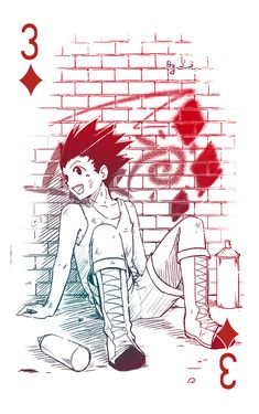 7/5/18(2 days after Gon's b-day~) - I do not own it, from pixlr created and belongs to 之之. Gon diamond 3. (Do not reprint or sell)