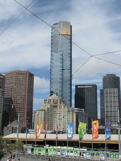 Photo taken of the Eureka Tower from Federation Square