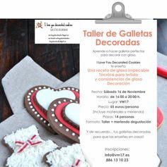 """Aprende a decorar galletas con glasa y la tecnica del teñido con las chicas de """"I love you decorated cookies"""" el sabado 16 de noviembre en espacio #PopUp VM17 en Vigo"""