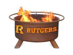 Rutgers University Portable Steel Fire Pit Grill