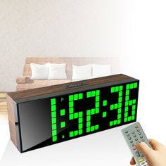Remote Control Large Digital LED Alarm Clock Countdown Timer Big Screen Sports Stopwatch Snooze Date CH KOSDA Factory Outlets