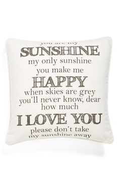 Levtex 'You Are My Sunshine' Pillow available at #Nordstrom