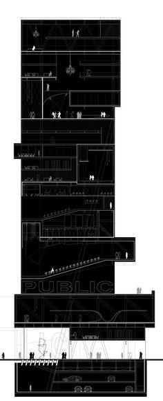 Highrise Proposal, Tokyo by Alexander Daxböck, via Behance: