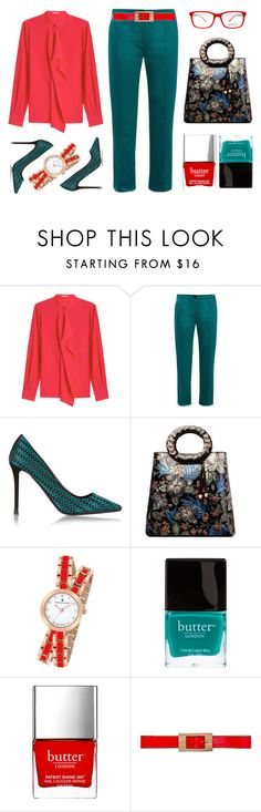 """""""Rosebush"""" by kjstylerussia ❤ liked on Polyvore featuring Agnona, Anna October, Nicholas Kirkwood, Christian Van Sant, Butter London, Marni and SocialEyes"""