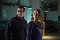 """Kara and Mon-El (Supergirl and Valor, maybe). Supergirl 2x10 """"We Can Be Heroes"""" Promotional photos. I really hope Mon-El is allowed to stick around for the show's duration. He and Kara have a FANtastic dynamic, and I'd love to see them both do the dance of """"let's be single because we drive each other crazy/it's for the best because we're superheroes"""" for a few seasons before admitting to the attraction and getting together for good. 
