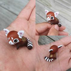 This is a very special mini red panda that has been carefully sculpted and painted to fit right in your hand. It has warm gold flecked eyes and delicate gold wings painted on for extra magic :)  It will come glazed and carefully packaged!  -This little cutie is approximately 4 x 2.5cm in size!  ❤❤❤  Follow me on Instagram for news, updates & follower goodies: http://instagram.com/thelittlemew  Have a WONDERFUL day