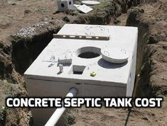 Septic Tank Systems, Septic System, Concrete Septic Tank, Homestead Survival, Mobile Home, Build Your Own, Backyard, How To Plan, Building