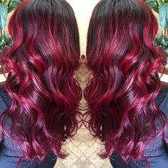 joico ruby red hair color Previous Post Next Post Ruby Red Hair Color, Red Ombre Hair, Dyed Red Hair, Color Your Hair, Hair Dye, Color Red, Bold Hair Color, Black Ombre, Crimson Hair