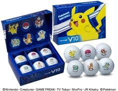 #Pokemon-Themed Golf Balls on Sale in Japan this March