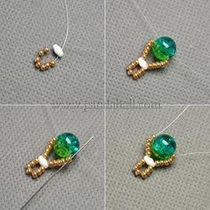 Crackle Beads Stitch Bracelet