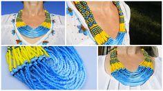 Traditional Ukrainian Beads Neclace от BeadsNECKLACE на Etsy #seedbead #Necklace #Ukrainian #Handmade #Jewelry #Etsy