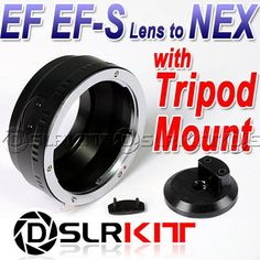 """Lens Adapter Ring with Tripod 1/4"""" Mount For Canon EOS Lens And SONY NEX E Mount EF S NEX 7 5 3"""