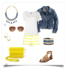 """""""SD Navy, White, Yellow 2"""" by beccagreen-i on Polyvore featuring Vineyard Vines, J.Crew, Stella & Dot, Tory Burch and Visvim"""
