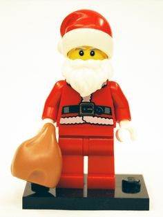 LEGO Collectible Minifigures Series 8 Santa #LEGO Lego via www.alegoaday.com