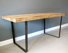 Reclaimed Wood Desk White Oak With Industrial Steel by DendroCo