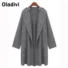 2015 Spring Autumn European Style Fashion Lady Plus Size Slim Thin Waistcoat Top Female Coat New Loose Thin Trench For Women 5XL
