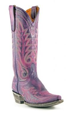 Womens Old Gringo Nevada Boots Violet And Pink #L175-400 via @Allens Boots