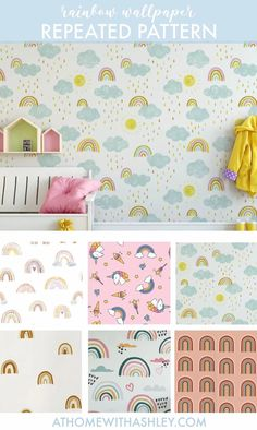 100 of the cutest rainbow wallpapers! You could put it on an accent wall, or go crazy and put it on the ceiling. If you prefer it for walls, there are tons of cute options with lots of different aesthetics to choose from. I'm loving #7, which is so cute and pastel! #rainbowwallpaper #wallpaperforwalls #rainbowdecor #accentwallwallpaper Rainbow Wallpaper, Wall Wallpaper, Different Aesthetics, Rainbow Decorations, Cozy Room, Types Of Fashion Styles, Small Spaces, Cute, Home Decor