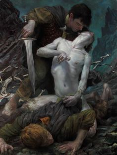 Giancola proves that he is quite the visionary with his pieces, showcasing several of beloved author J. Tolkien's magical characters and the creatures that inhabit Middle-Earth. Legolas, Gandalf, Tag Art, Rembrandt, Fantasy World, Fantasy Art, Concept Art World, The Two Towers, Fantasy Illustration