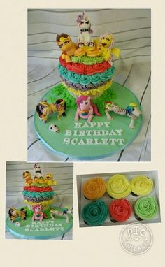 Zombie flesh eating my little ponies cake www.facebook.com/ditsyscakes