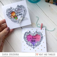 Neat and Tangled: Trifold and Window Cards with Daria.