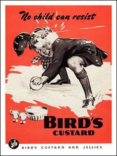 Birds Custard, Boy Throwing Snowballs, Advertisement 1940s 1950s Posters, Posters Uk, Vintage Advertising Posters, Vintage Advertisements, Vintage Ads, Vintage Posters, Movie Posters, Vintage Food, Boys Short Suit