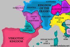 711eaneng.gif (349×233) Spain History, Ravenna, Aquitaine, Bavaria, Burgundy, Africa, Medieval, Maps, Historia