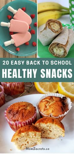 Here you can find 20 healthy, easy to make, and delicious recipes ideas for back-to-school snacks. Kids and moms will love them!! #backtoschool #snacksforkids #healthysnacks School Snacks For Kids, Snacks Kids, Healthy Snacks For Kids, Easy Healthy Recipes, Delicious Recipes, Easy Meals, Yummy Food, Healthy Breakfast Snacks, Easy Recipes For Beginners